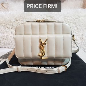 YSL Vicky Toy Small Quilted Lambskin Camera Bag